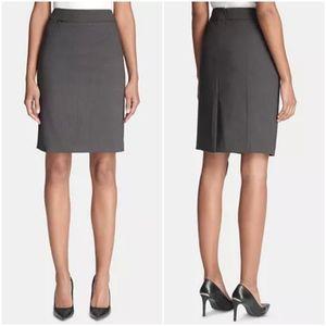 Calvin Klein Charcoal Grey Pencil Skirt